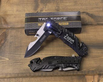 11 Tactical Knives, Personalized Knives, Groomsmen knives, Will you be my groomsman, Personalized Pocket Knife, Mens Personalized, Best Man