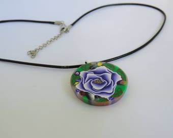 Rose flower, Purple rose necklace , Gift for her, choker necklace, Rose jewelry, chic jewelry, Purple jewelry, Roses art necklace