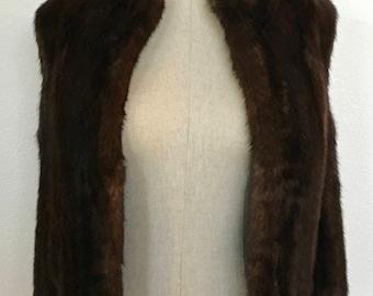 Vintage Canadian Sable Fur Vest Size S/M c.1965