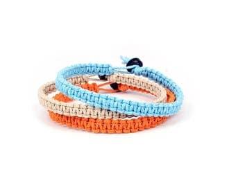 Friendship bracelets, Hemp Bracelet, Macrame Bracelet, Hemp Bracelet Set, Simple Bracelet, Minimalist Bracelet, Custom Bracelet