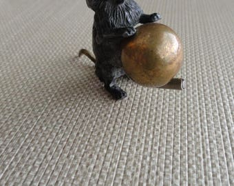 Antique Black Kitty Cat Sewing Tape Measure    D034