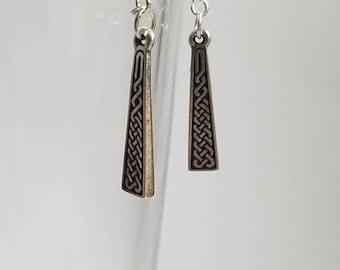 Celtic Knotwork Hanging Earrings