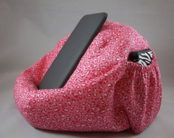 Large bean bag chair for tablets pink animal print