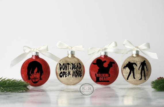 The Walking Dead Christmas Ornament set