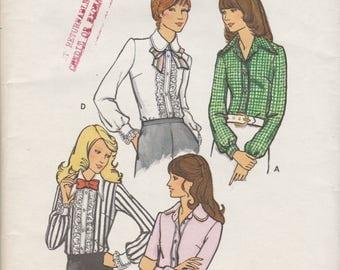 70s Blouse Pattern Butterick 6899 Size 12 Uncut