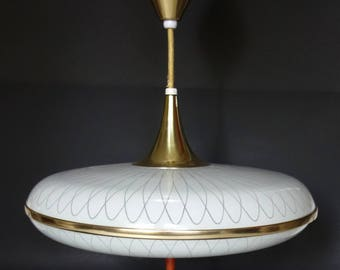 Atomic UFO Saucer Light, Mid Century Modern Retractable Light, Retro  Imperialite Pull Down Pendant