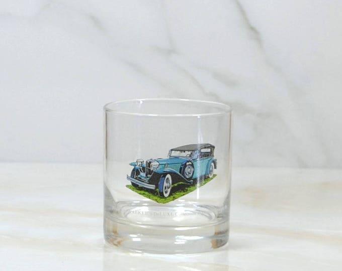Vintage Walker's, Deluxe, Bourbon Whiskey, Rocks Style Glass, 1973, Straight 8, Collection, 1930, Ruxton, Phaeton, Classc Car, Barware