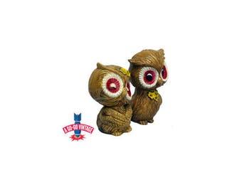 Vintage Owl Salt and Pepper Shakers, Mid Century Owl Shaker Set