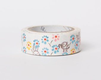 Kawaii Japanese washi tape - hide and seek tracing paper tape by Shinzi Katoh