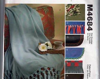 Blankets / Original McCall's Crafts Uncut Sewing Pattern M4684