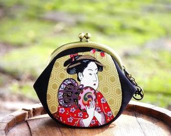 Metal frame coin purse Geisha