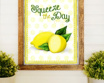 lemon kitchen accessories kitchen print etsy 3718