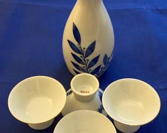 Vintage Japanese Gekkeikan Sake Set, 5 piece