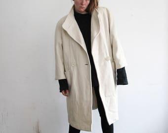 90s oversize midi coat // CREAM