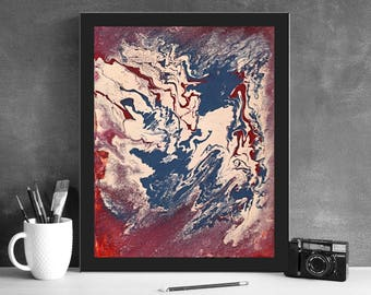 Fluid Art-Beautiful Original Fluid Painting.Will look great at Home or Office