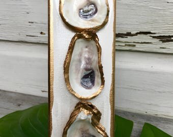 Oyster Shell Painting/Beach House Style Art/Nautical Theme Art/Coastal Art/Minimalist Art