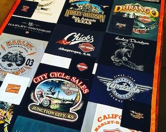 Harley Tshirt Blanket
