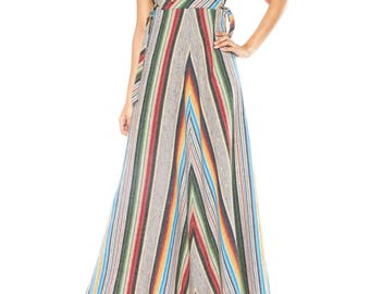 1970s Striped And Hooded Dress Size: 6