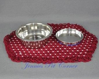 Cat Food Mat - Maroon - Dog Food Mat - Pet Food Mat - Pet Placemat - Dog Placemat - Cat Placemat - Large Pet Placemat