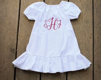 coming home outfit, white baby dress, baby girls coming home outfit, monogram, baby girls shower gift, long sleeve coming home outfit, gown