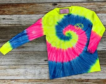 Childrens Monogrammed Tshirt, Tie Dyed Tshirt, Monogrammed Tshirt, Monogram Shirt, Girls Tshirt, Girls Monogrammed Tshirt, Girls Tie Dye