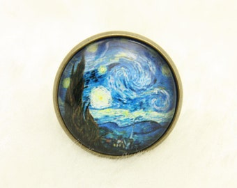 Ring Starry Night van Gogh