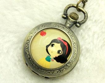 Necklace Pocket watch Snow White