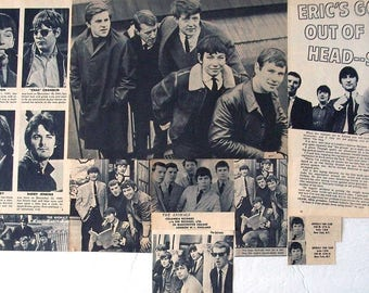 THE ANIMALS ~ The House of the Rising Sun, We Gotta Get Out of This Place, Eric Burdon ~ B&W Clippings, Aricles, Pin-Ups from 1964-1966