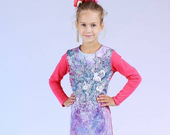 Dream Galaxy - children's sweatshirt dress