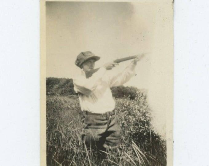 Vintage Photo Snapshot: Markswoman, c1920s-30s (76587)