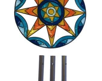 Mandala suncatcher wind chimes yoga decor meditation room altar