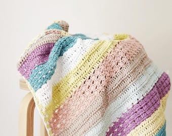 Crochet PATTERN- Stroller Baby Blanket/ crochet baby blanket pattern, crochet pattern, baby shower present, crochet blanket pattern