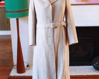 Vintage 60's tailored woollen coat by Waverley Woollen Mills Launceston Tasmania