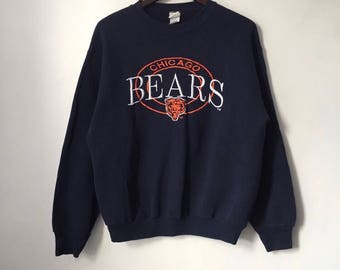 vintage chicago bears crewneck sweatshirt mens size large competitor 90s made in USA