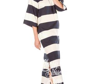 Summer maxi dress/ Elegant dress/ Striped dress/ Maxi Dress/ Long dress/ Summer Dress/ Day dress/ Plus size dress/ Plus size clothing
