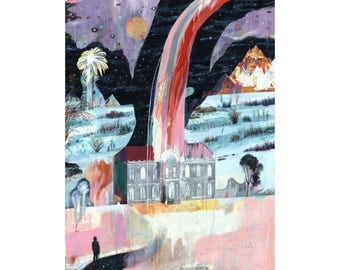 Illustration art print An Apparition, Hafod A3 Print (11.69 in x 16.54 in)