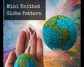 Mini Knitted Globe Pattern - PDF Knitting Pattern