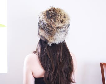 60s Fur Hat . 1960s Hat Brown Fur Hat Winter Hat Coyote Fur Hat hat 60s hat vintage fur hat vintage hat Coyote hat Mod Fur Hat Mod Hat