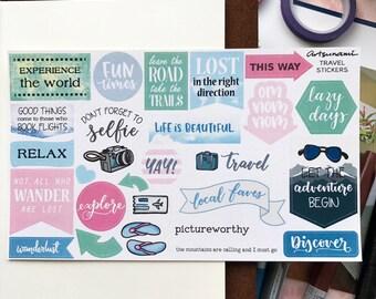 Travel Stickers Journal Scrapbooking Kiss Cut Stickers