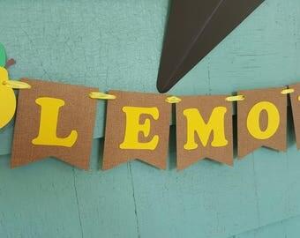 Lemonade Banner Strawberry Lemonade Limeade Picnic stand sign lemon banner photo prop party decor