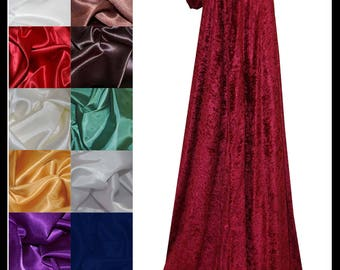 Maroon/ Wine Crushed Velvet Cloak lined with a Shimmer Satin of your choice. Ideal for LARP LRP Medieval Cosplay Costume. NEW!