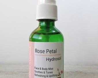Rose Hydrosol, Rose Water, Facial Mist, Toner, Body Splash