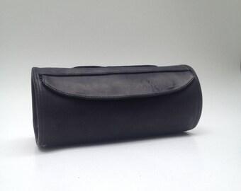 Alforja redonda de piel // Porta herramientas para bicicleta, Bicycle tool bag, Bicycle bag, Tool bag leather, bicycle bag, Leather bag