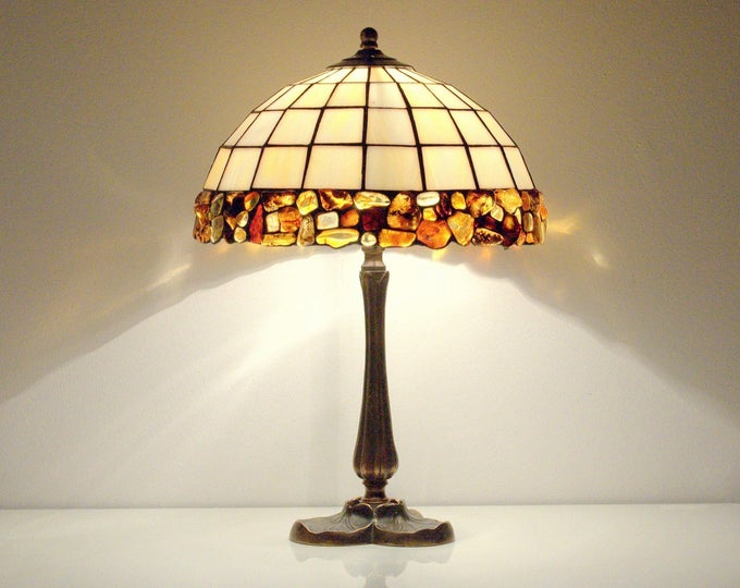 baltic amber lamps stained glass lamps