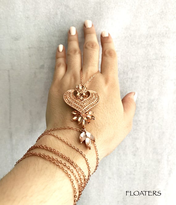 Rose Gold Bracelet gold hand chain ring bracelet hand piece