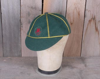 1950's Official Wolf Cub Boy Scouts of Canada Green Wool Uniform Cap