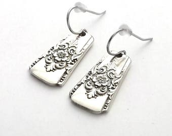 Spoon Earrings, Mountain Rose 1954 Lightweight Teaspoon Handles