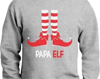 Papa Elf - Funny Christmas Gift for Dad / Grandpa Sweatshirt