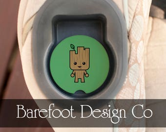 Groot Carseat Personalized Custom Sandstone Car Coaster FAST SHIPPING