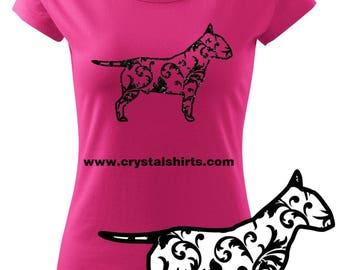 Bullterrier silhouette T-shirt